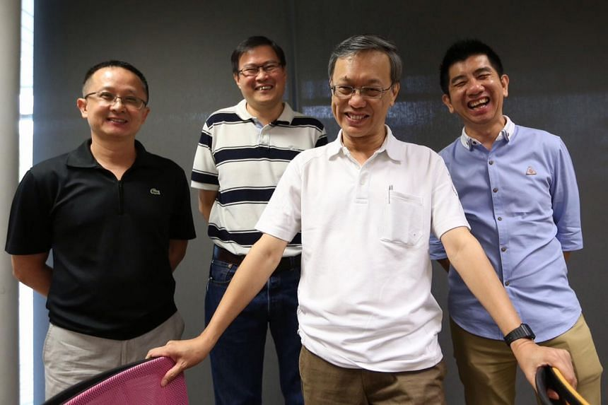 (From left) Mr Gan Chai San (vice-president), Mr Edward Low (vice-president), Mr Choy Kah Kin (president), and Mr Patrick Ho (vice-president).