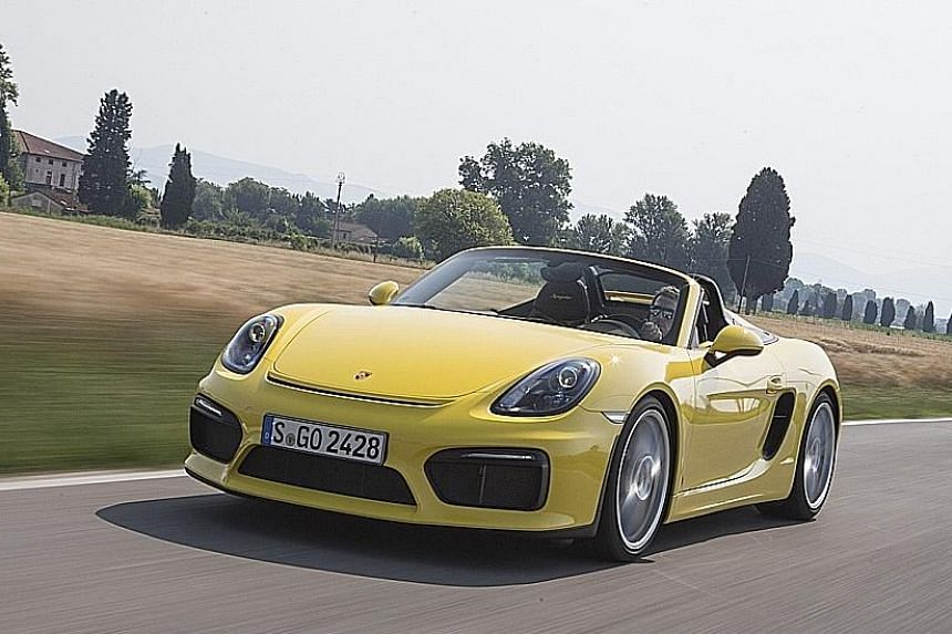 The new Porsche Boxster Spyder looks and feels like the Cayman GT4 racer but is designed more for everyday driving.