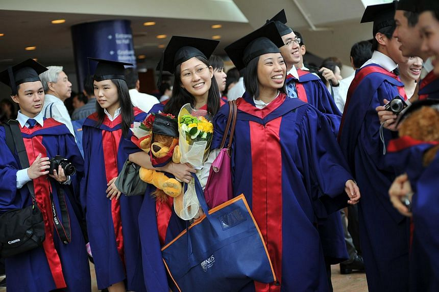 A graduation ceremony at the National University of Singapore in 2011.
