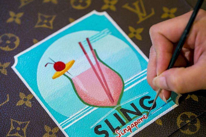 Louis Vuitton is offering free trunk-painting services for Singapore's 50th birthday. There are six designs to choose from, such as the Singapore Sling.