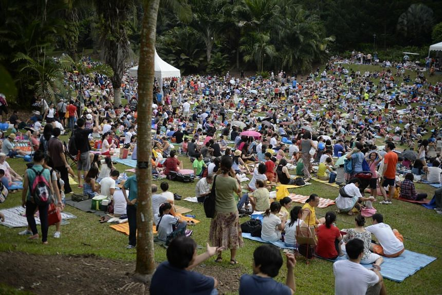 Thousands of people attended a concert on Saturday evening at the Singapore Botanic Gardens - recently declared as Singapore's first World Heritage Site - to mark The Straits Times' 170th anniversary.