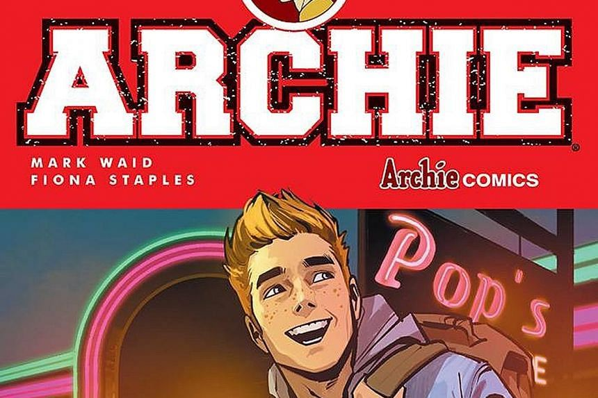 Comic artist Fiona Staple (above) teamed up with writer Mark Waid to come up with the new, hipster Archie with his chiselled jawbone, skinny jeans and Justin Bieber haircut.