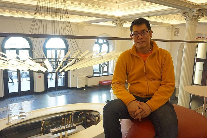 """Mr Damon Chua at the Public Theatre in New York. The Singaporean says living in the US has made him realise that a person does not have """"to measure success in traditional terms""""."""