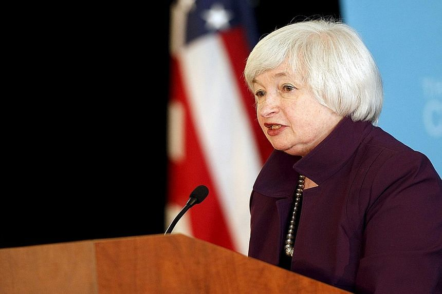 """US Federal Reserve chair Janet Yellen warns that """"unanticipated developments"""" could delay or accelerate the increase of interest rates."""