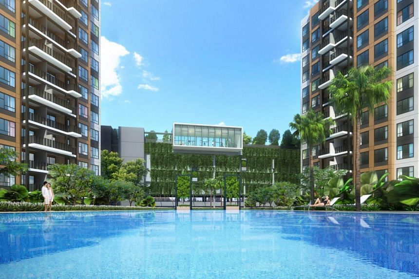 Artist's impression of the Brownstone executive condominium (EC) at Canberra Drive in Sembawang.