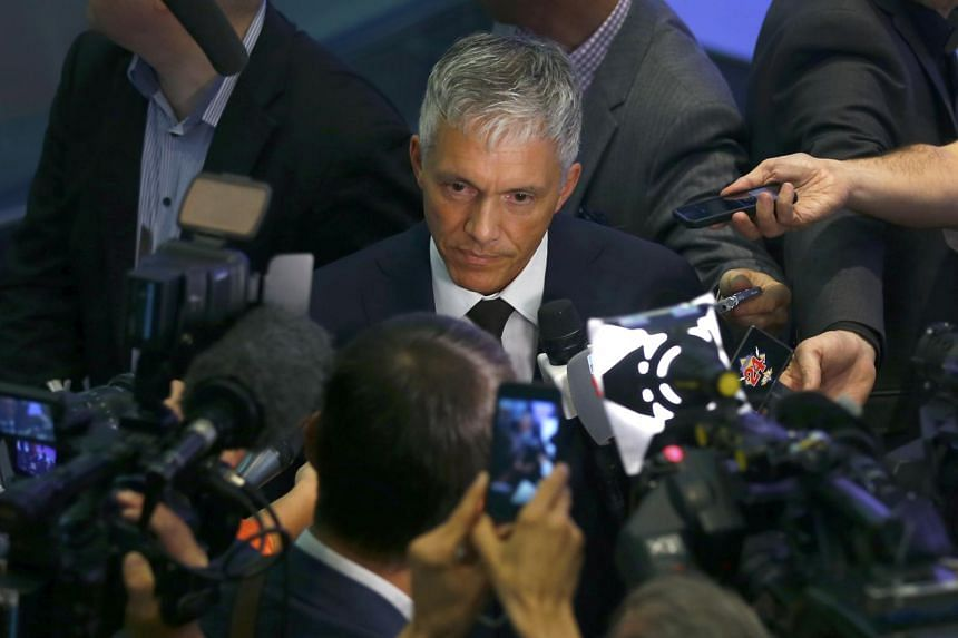Swiss attorney general Michael Lauber during a news conference last month.