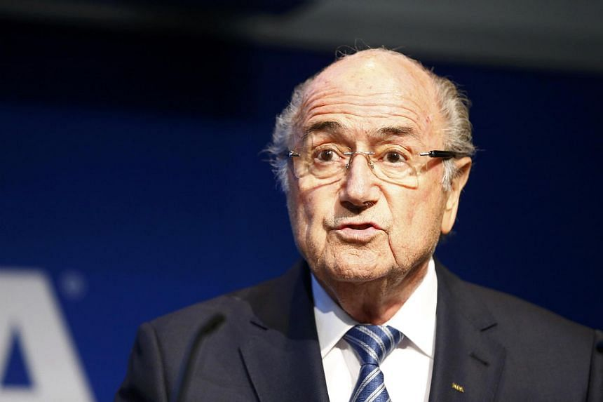 Fifa president Sepp Blatter addresses a news conference at the Fifa headquarters in Zurich, Switzerland on June 2, 2015.
