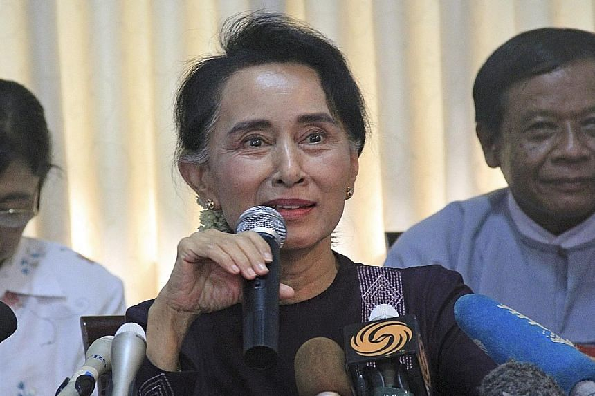 Opposition leader Aung San Suu Kyi said her National League for Democracy party will redouble efforts to change the Constitution after the polls, where 30 million voters will cast their votes.