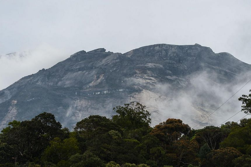 Malaysia's Mount Kinabalu is seen a day after the earthquake in Kundasang, a town in the district of Ranau, on June 6, 2015.