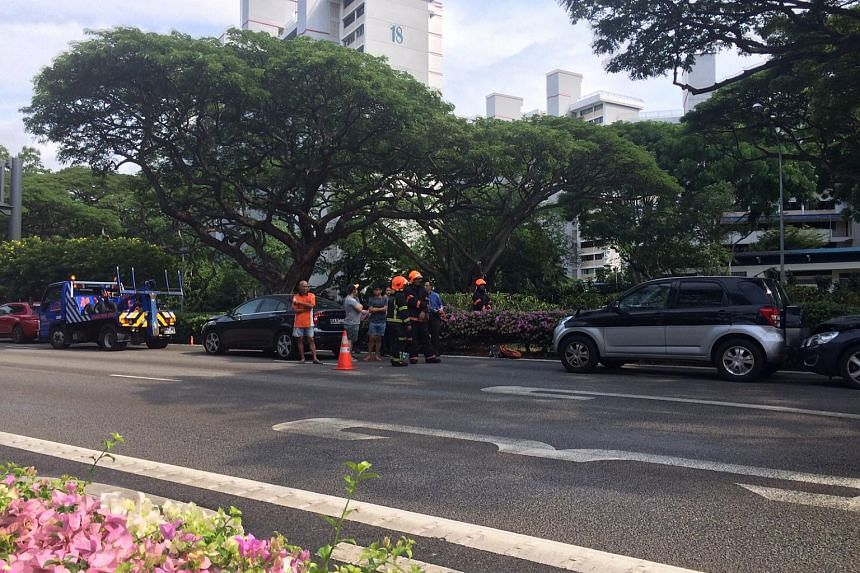 This accident happened near the Marine Parade exit on the ECP where two cars caught fire on July 13, 2015.