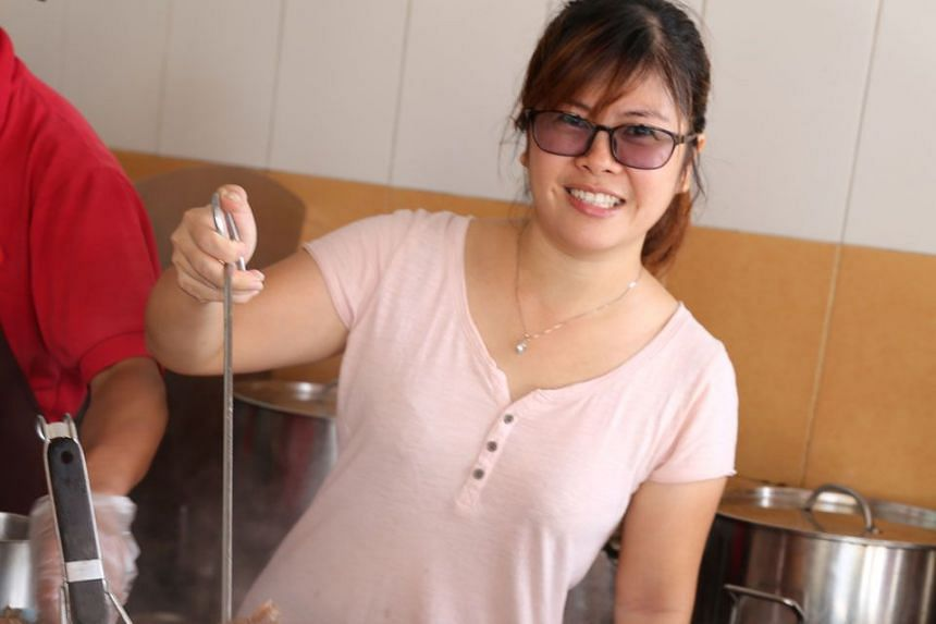 KLUANG INSTITUTIONS: Tangkak Beef's friendly lady boss.