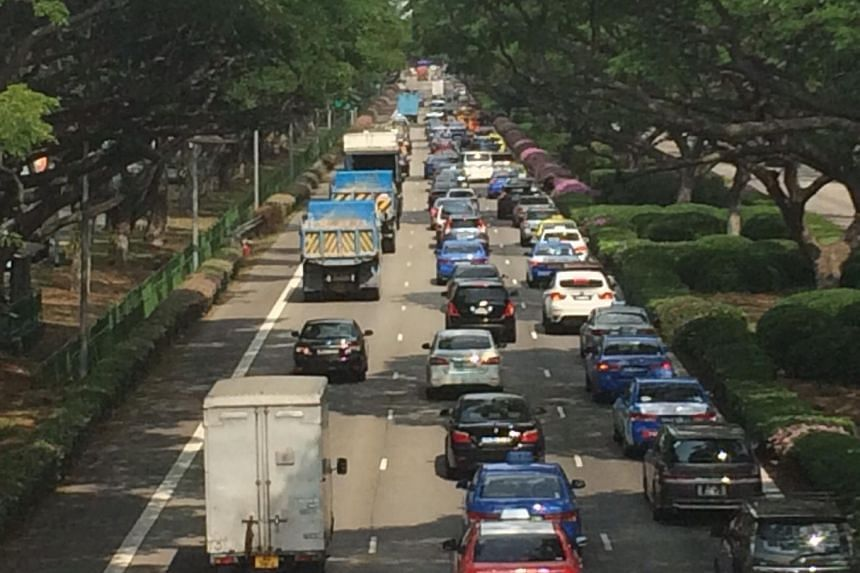 Two accidents on the East Coast Parkway (ECP) have caused a massive jam on Monday morning (July 13).