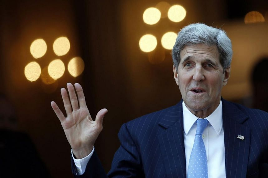 US Secretary of State John Kerry talking to reporters in Vienna, venue for the Iran nuclear talks.