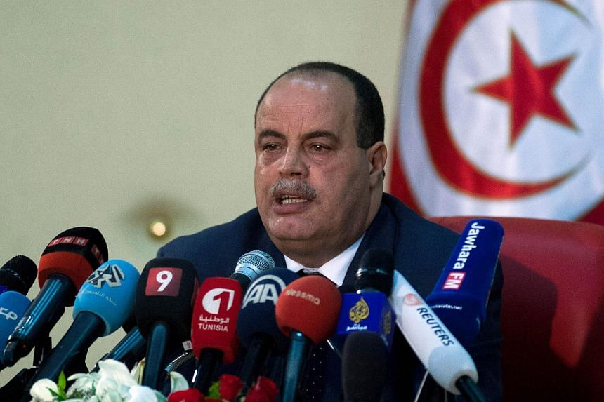 Tunisian Interior Minister Najem Gharsalli speaks during a press conference on July 12, 2015 in Tunisia.
