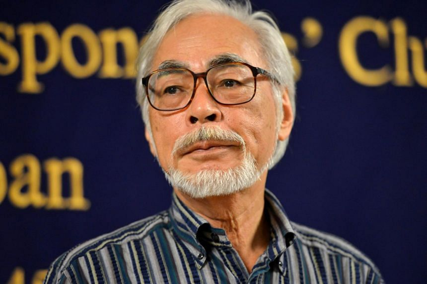 Hayao Miyazaki joined a chorus of protest against a change in Japan's security policy.