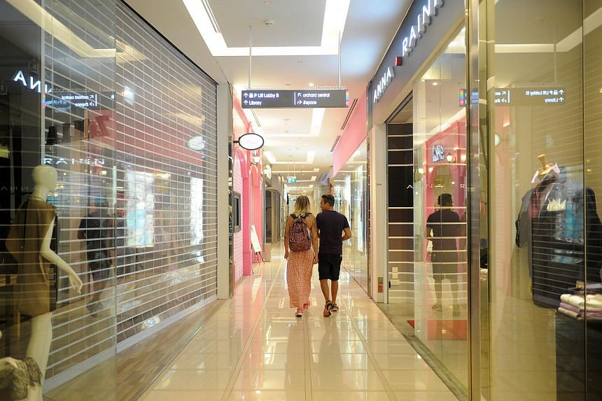 Average monthly gross rents of prime retail space on Orchard Road slipped 1 per cent in the second quarter from the previous three months to $37.79 per square foot.