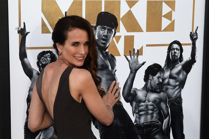 Andie MacDowell says it is nice to see women empowered in the movie.