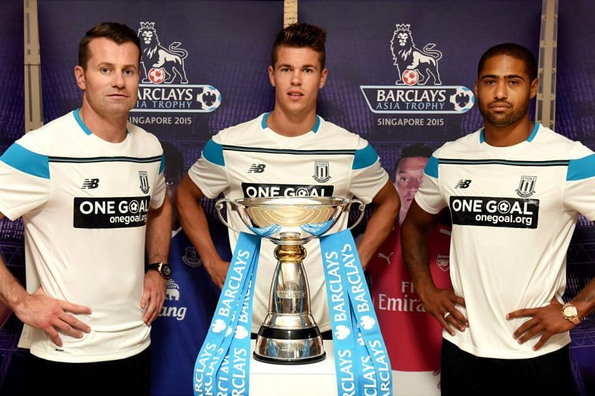 Stoke City's three new signings (from left) Shay Given, Marco van Ginkel and Glen Johnson will be making their club debuts in Singapore at this week's Barclays Asia Trophy. Stoke play Everton in the tournament opener on Wednesday.