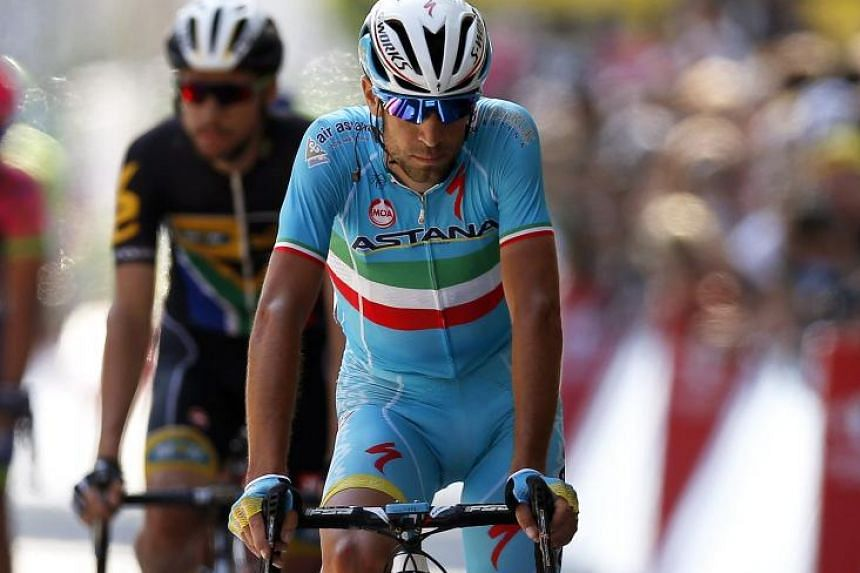 """Astana rider Vincenzo Nibali had """"no legs"""" in the final climb in Stage 8, and is now 1:48 behind the leader."""