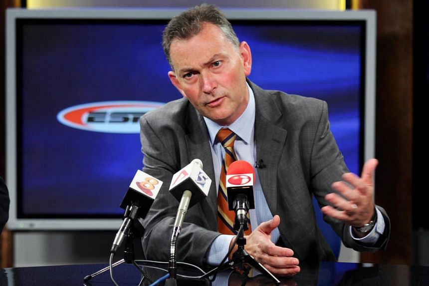 Richard Scudamore, chief executive of English Premier League (EPL), was in town to talk to the press about influence of EPL.