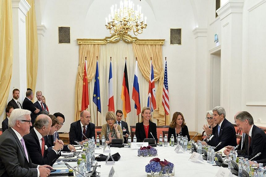Representatives from some of the world powersat Palais Coburg in Vienna, Austria, last week, where talks between the six major powers and Iran continued.