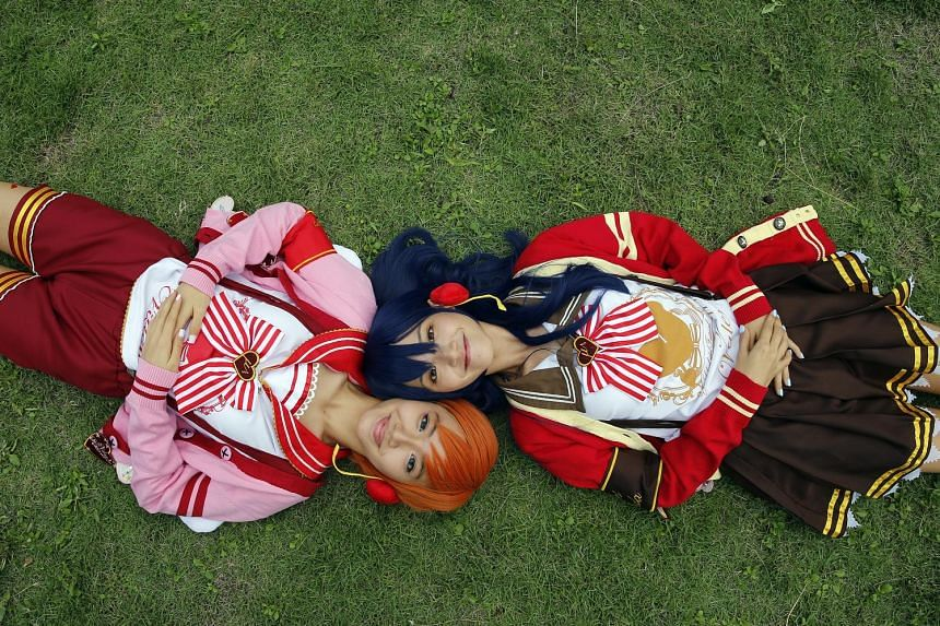 Civil servant Zephyus Chou and IT executive Maria Sim (both above) role-played characters from the Japanese novel series Vampire Hunter D to win a trip to the World Cosplay Summit in Japan this month. Cosplayers (left, below and bottom) dressed up as