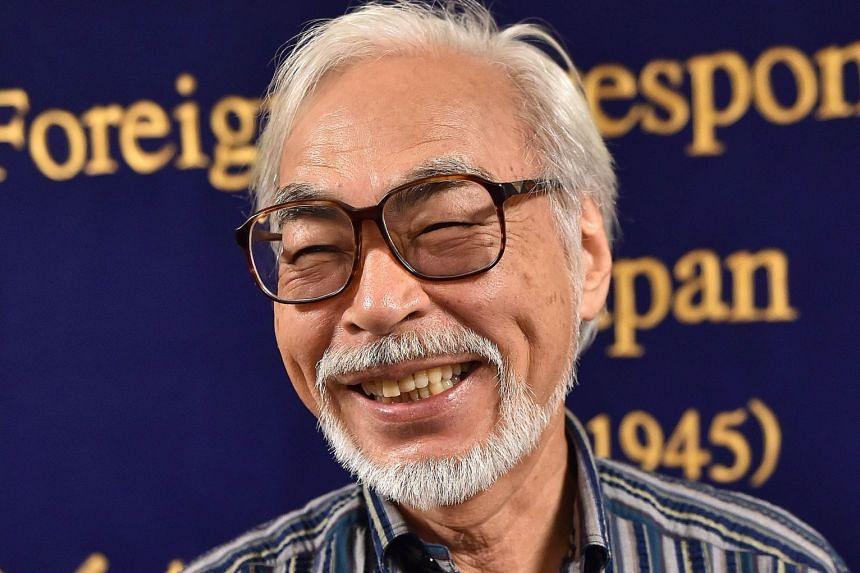 Hayao Miyazaki (above).