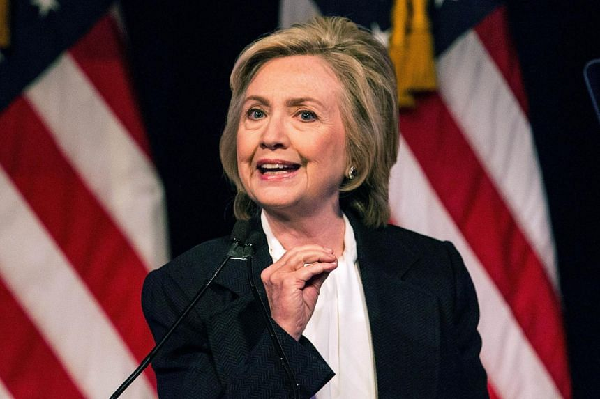 Hillary Clinton making her first major economic policy address at The New School in New York.