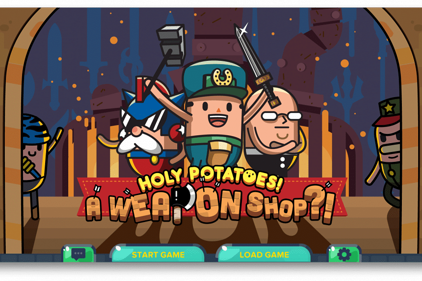 Screengrab from Holy Potatoes!, local game developer Daylight Studio's first Steam release.