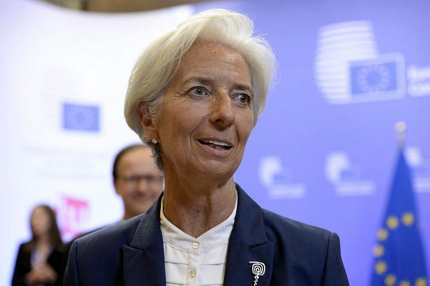 IMF managing director Christine Lagarde speaking to the media after a Eurozone summit over the Greek debt crisis in Brussels.