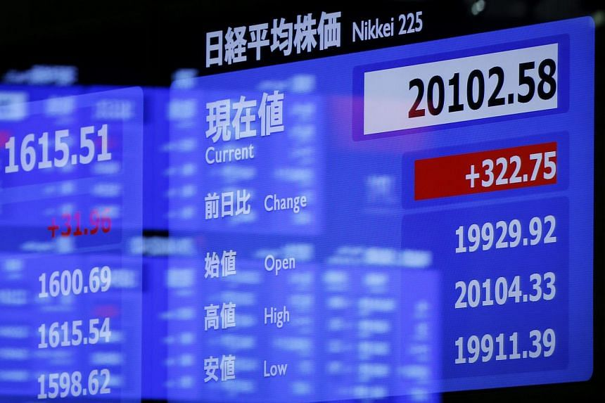 Asian stocks rose, following gains in US equities, amid optimism over Greece's bailout agreement.