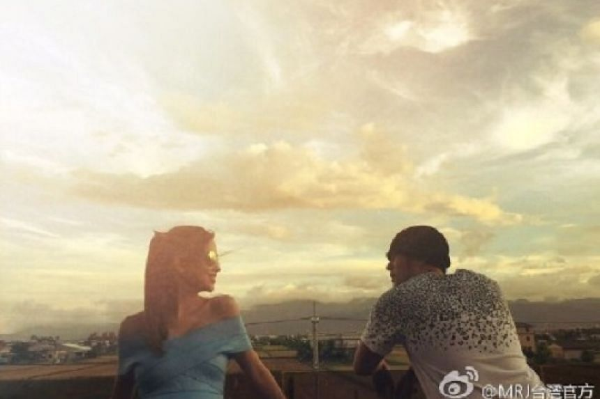 The photo Jay Chou shared of himself and Hannah Quinlivan in Yilan, north-east Taiwan.