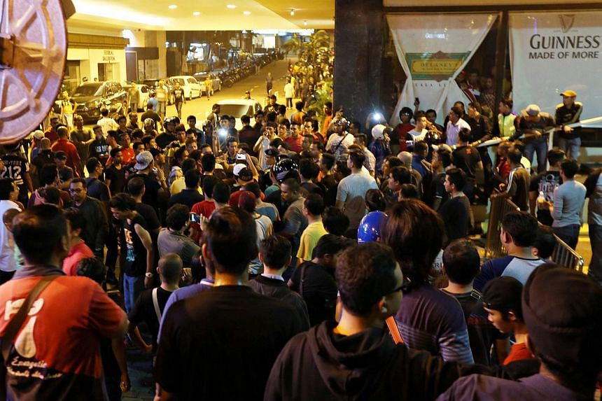 The scene at Low Yat Plaza in Kuala Lumpur, where five people were injured in a riot on July 12.