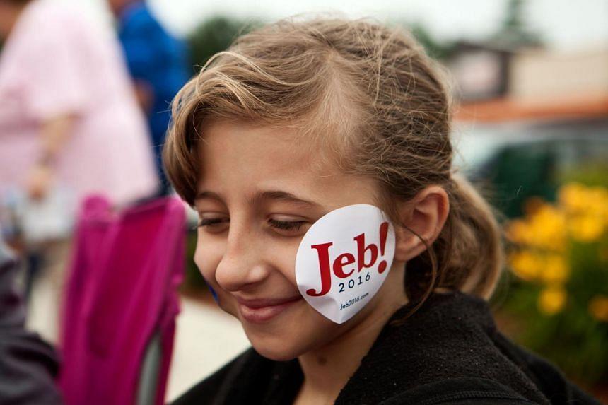 A young Jeb Bush fan.