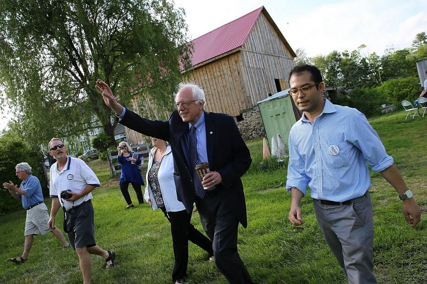 Senator Bernie Sander, a Democratic candidate, arriving at a campaign event held at the home of residents in Epping in May.