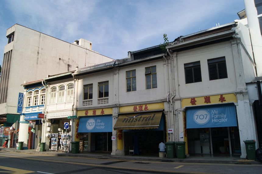 CBRE is seeking expressions of interest in the three adjoining double-storey shophouses. The guide price of $16.5 million for all three shophouses – which have a combined land area of 4,353 sq ft and a total gross floor area of 9,719 sq ft – work