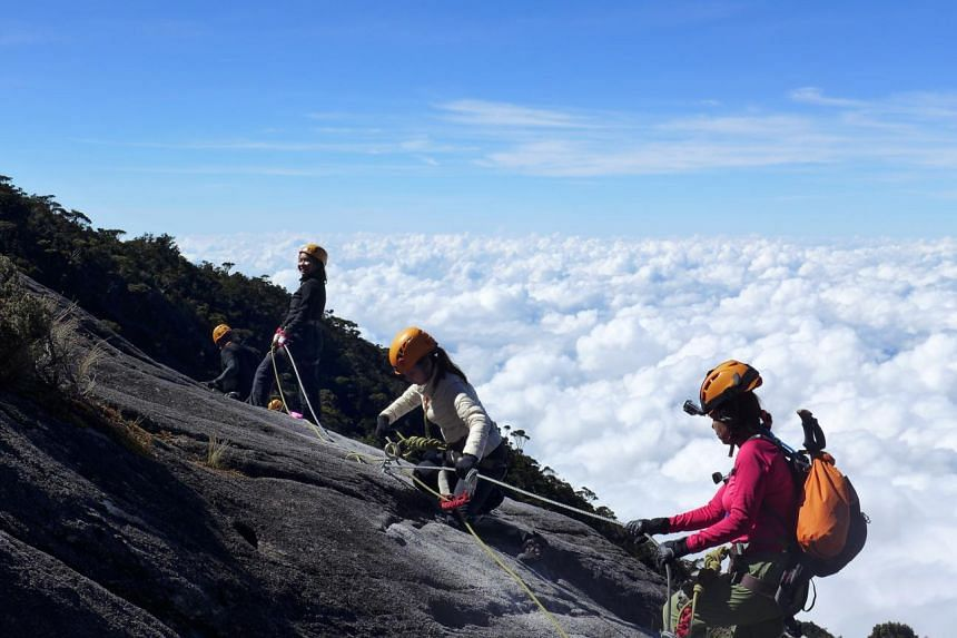 A route called the Via Ferrata (or Iron Road in Italian) on Mount Kinabalu, before the June 5 earthquake. In a ministerial statement, Education Minister Heng Swee Keat said the Sabah earthquake was an unforeseen natural disaster that could not have b