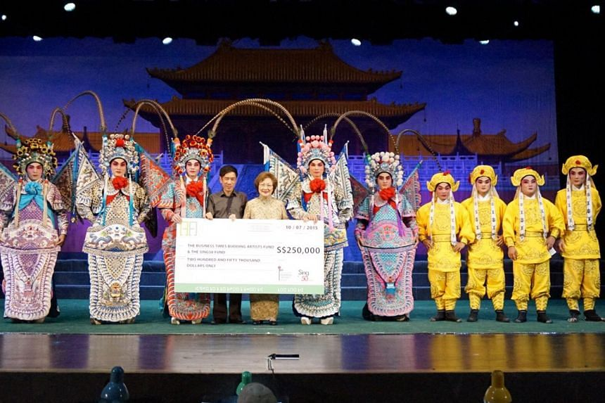 The Wuchuan City Cantonese Opera troupe, which performed at the Kreta Ayer People's Theatre, raised the sum through donations and sponsorship for its four-night show.