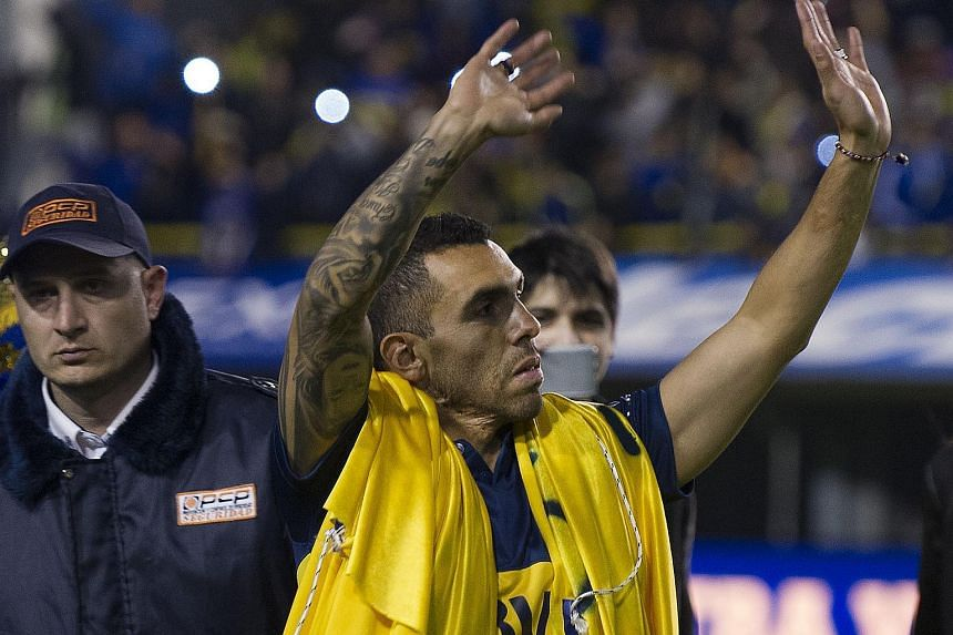 Carlos Tevez was officially unveiled as a Boca Juniors player in a 6.5 million euros (S$9.7 million) transfer from Juventus.
