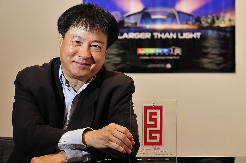 Light10 Industries CEO Jerry Tan says his firm is spearheading the concept of transmedia. Instead of using light just to light up places, it can perform other things, such as sending messages.