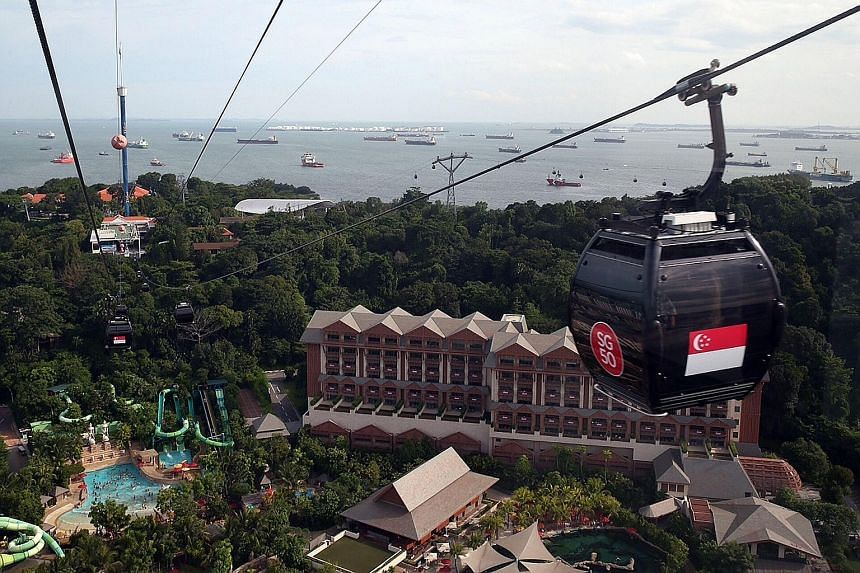 The new Sentosa Line is not connected to the Sentosa-Mount Faber Line (above), but visitors can walk about three to five minutes to get to the other line. The new line now carries about 1,000 passengers a day.