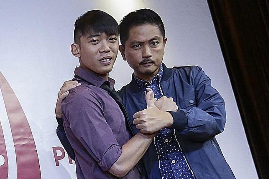 Lucky Boy stars Wang Weiliang (left) and Chew Chor Meng.