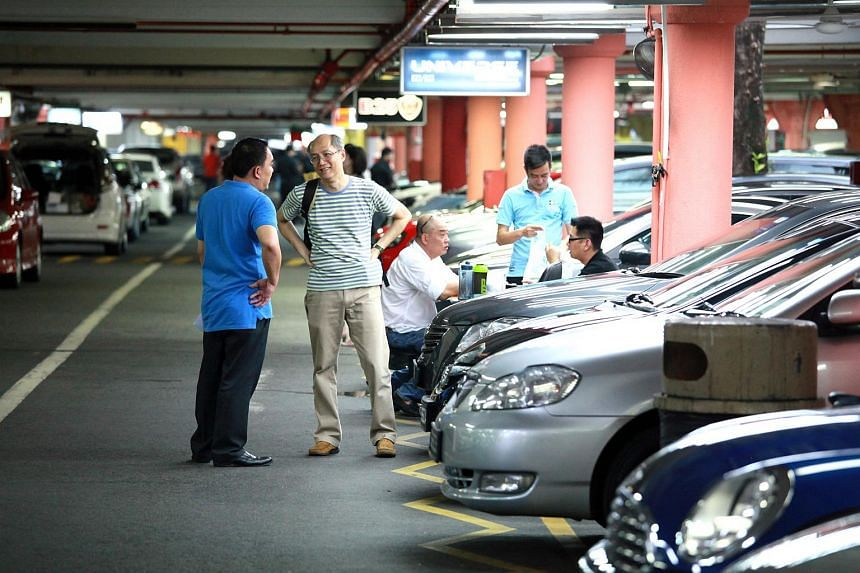 People looking at used cars at Turf City. Retail sales in Singapore rose 6.1 per cent in May compared to the previous year, mainly due to a big jump in the sales of motor vehicles, figures from the Singapore Department of Statistics showed on Wednesd
