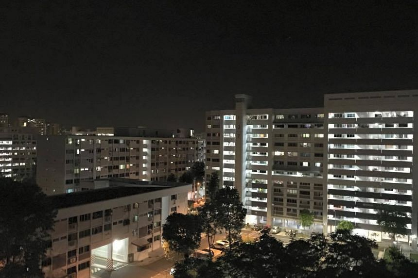 "A photo from Dr Vivian Balakrishnan's post in which he was ""glad the lights are back on"" in Bukit Panjang."