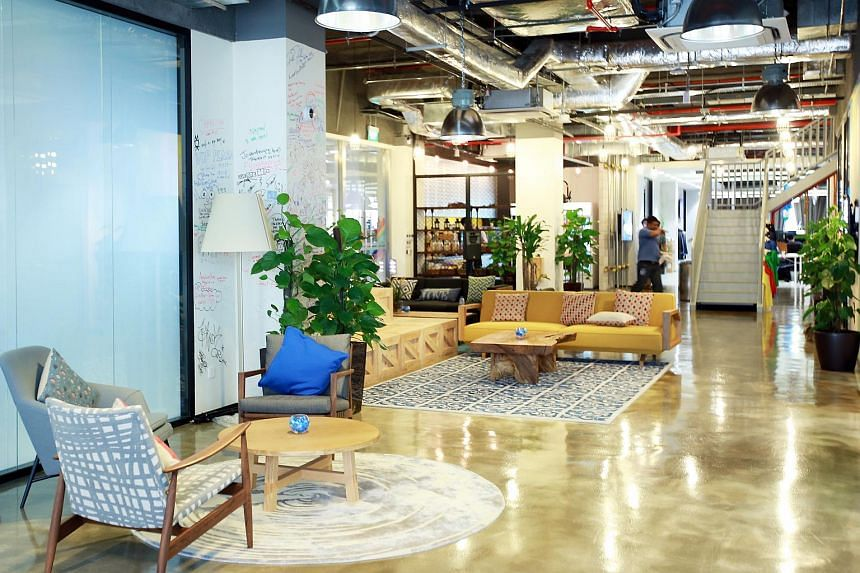 One of the many small informal meeting spaces at Facebook Singapore.