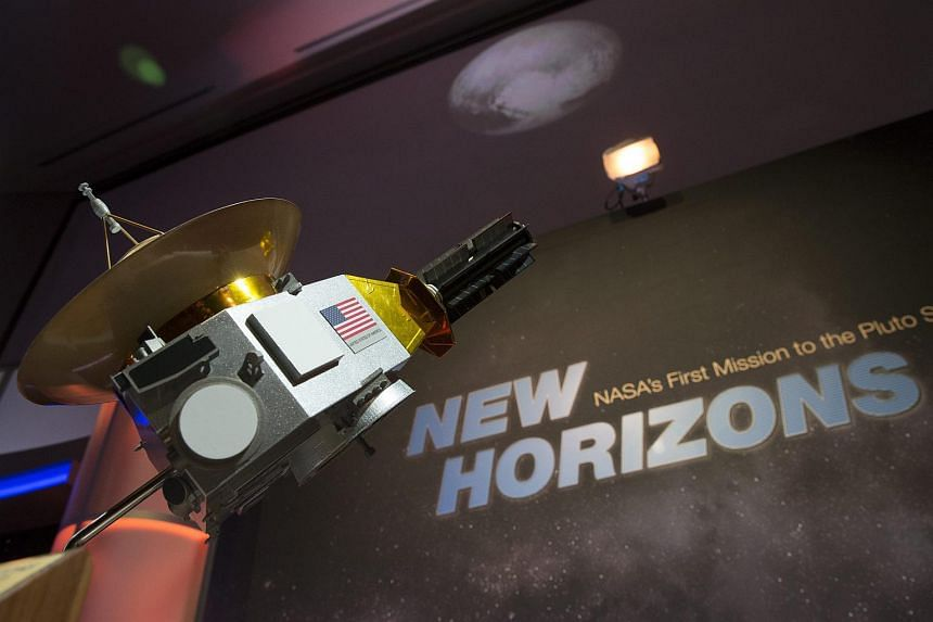 A model of the New Horizons spacecraft.