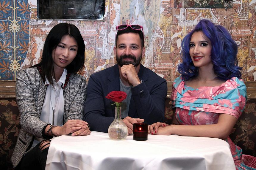 (From left) Jeannette Tan, founder of luxe lifestyle company Imaginoire, The Box founder, Mr Simon Hammerstein, and event headliner, Singapore's first burlesque performer Sukki Singapora.