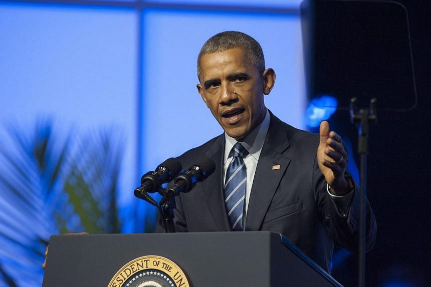 US President Barack Obama speaks at the National Association for the Advancement of Colored People (Naacp) conference at the Pennsylvania Convention Centre in Philadelphia.