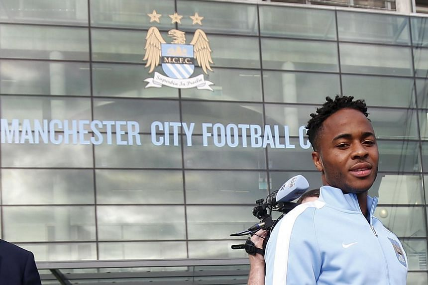 """Manchester City said they were """"delighted to announce"""" Sterling's five-year deal."""