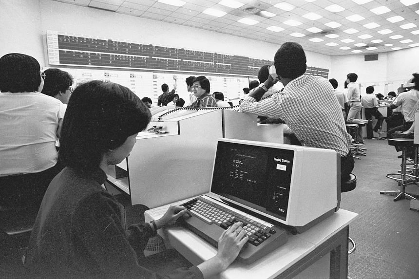 An input terminal that was part of the Stock Exchange of Singapore's computerised system back in 1982.